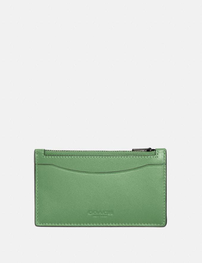 Coach Zip Card Case Soft Green SALE Shop by Price Under €100