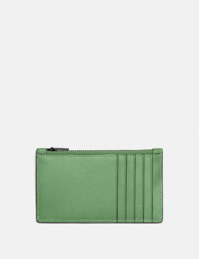 Coach Zip Card Case Soft Green SALE Shop by Price Under €100 Alternate View 1