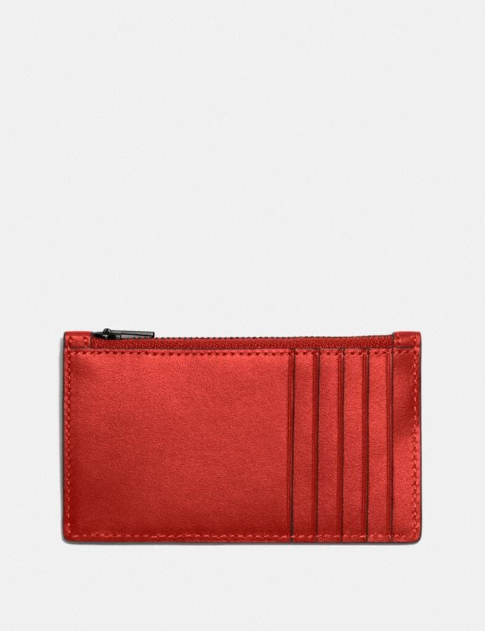 Coach Zip Card Case Red Sand New Men's New Arrivals Wallets Alternate View 1