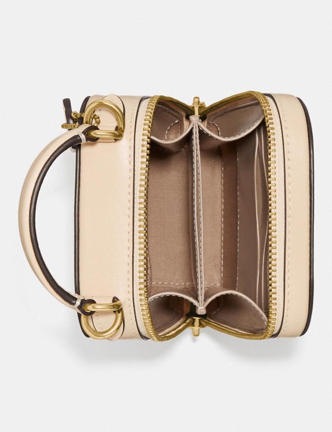 Coach Alie Camera Bag in Signature Jacquard Brass/Stone Ivory  Alternate View 2