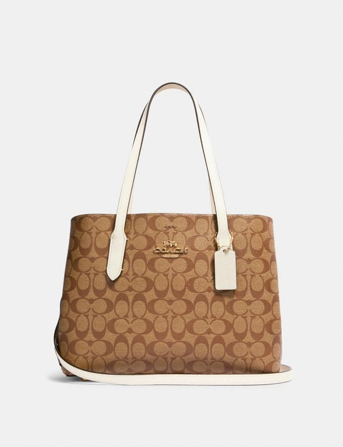 Coach Avenue Carryall in Signature Canvas Im/Khaki/Chalk