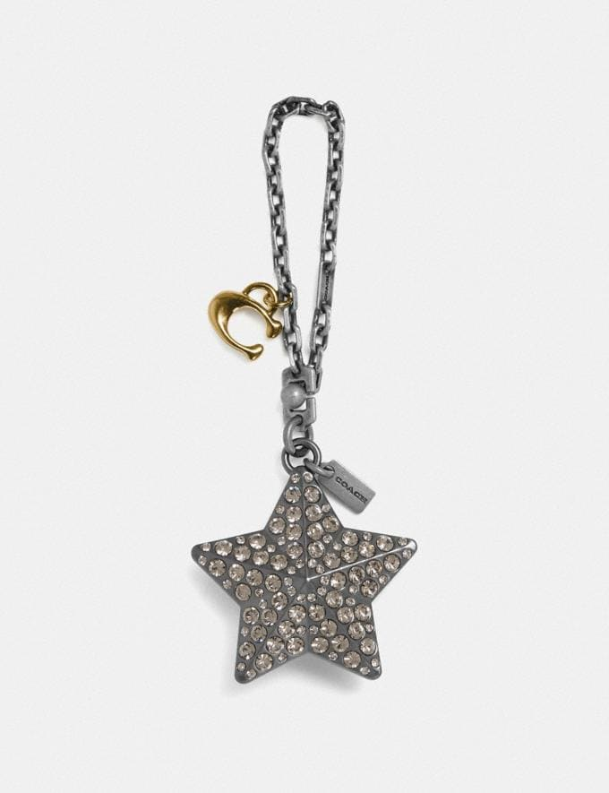 Coach Studded Star Bag Charm Multi/Silver Women Accessories Bag Charms & Key Rings