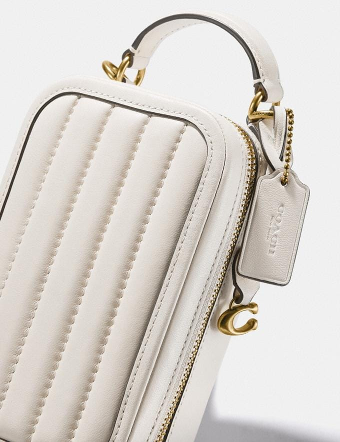 Coach Alie Camera Bag With Quilting Brass/Chalk Women Bags Crossbody Bags Alternate View 4