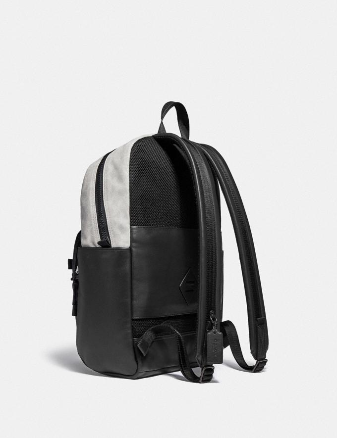 Coach Pacer Tall Backpack 29 in Colorblock Signature Canvas Ji/Charcoal Multi Men Bags Backpacks Alternate View 1
