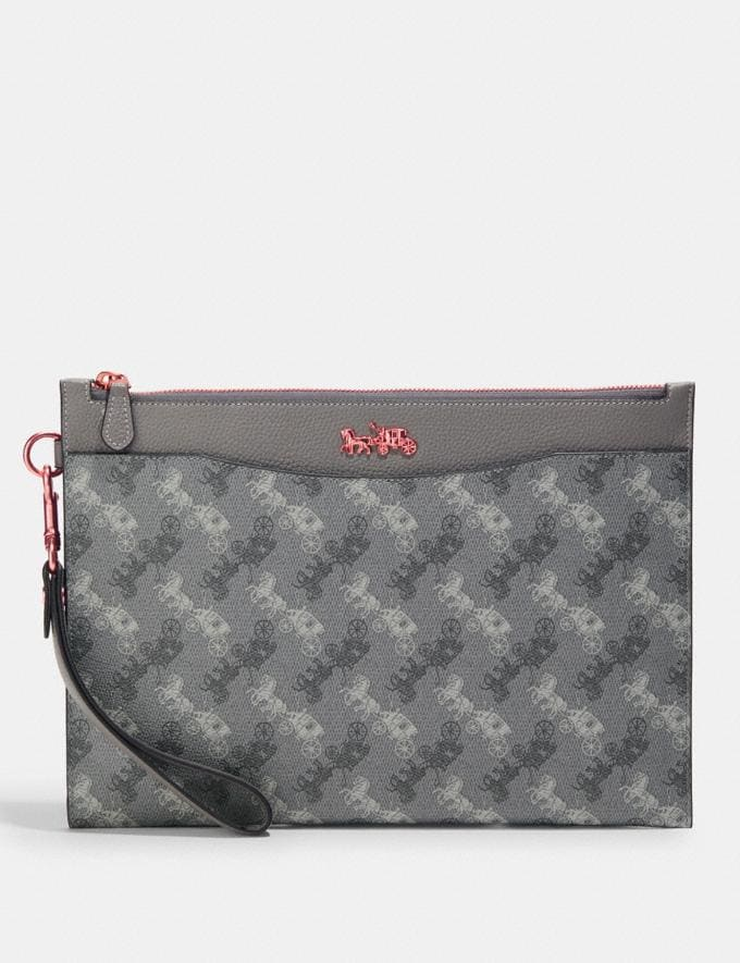 Coach Hitch Pouch With Horse and Carriage Print Truffle Men Bags Pouches
