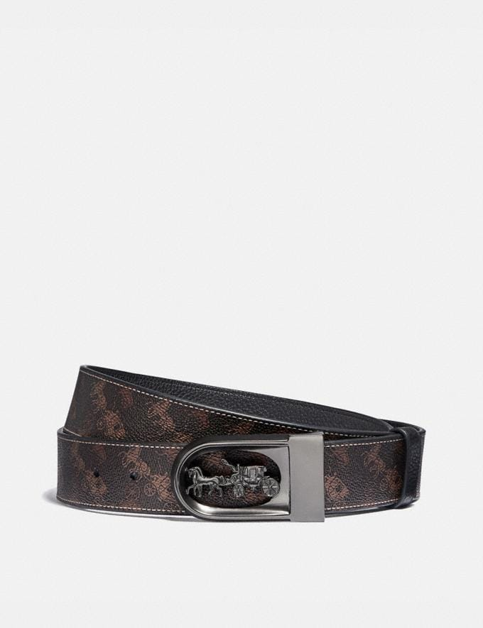 Coach Horse and Carriage Buckle Cut-To-Size Reversible Belt With Horse and Carriage Print, 38mm Truffle New Men's New Arrivals Bestsellers
