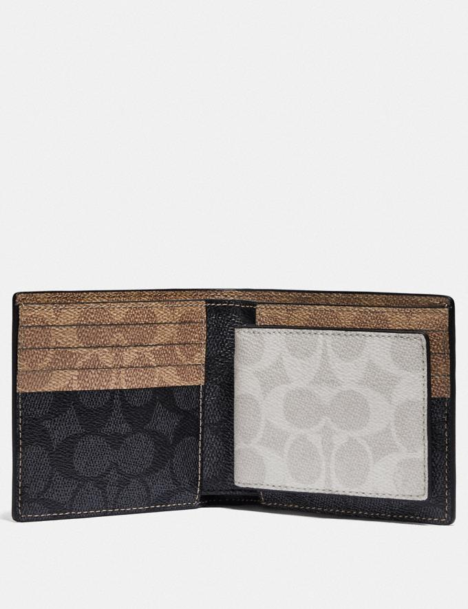 Coach 3-In-1 Wallet in Colorblock Signature Canvas Charcoal/Khaki/Chalk PRIVATE SALE For Him Wallets Alternate View 1