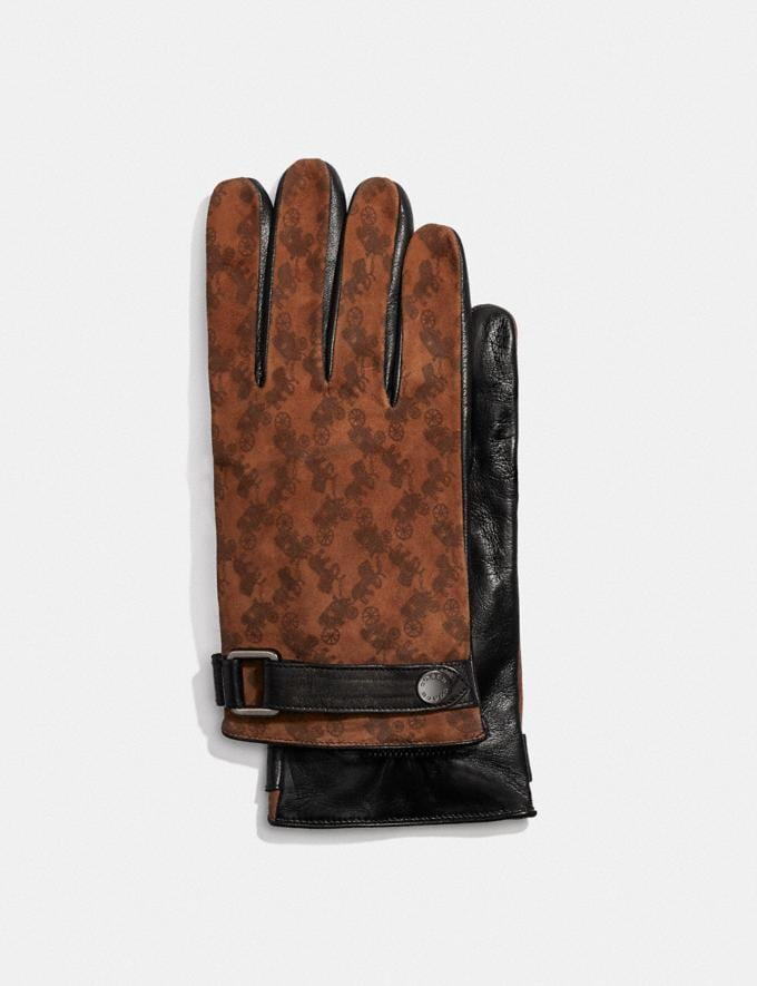 Coach Horse and Carriage Tech Napa Gloves Saddle