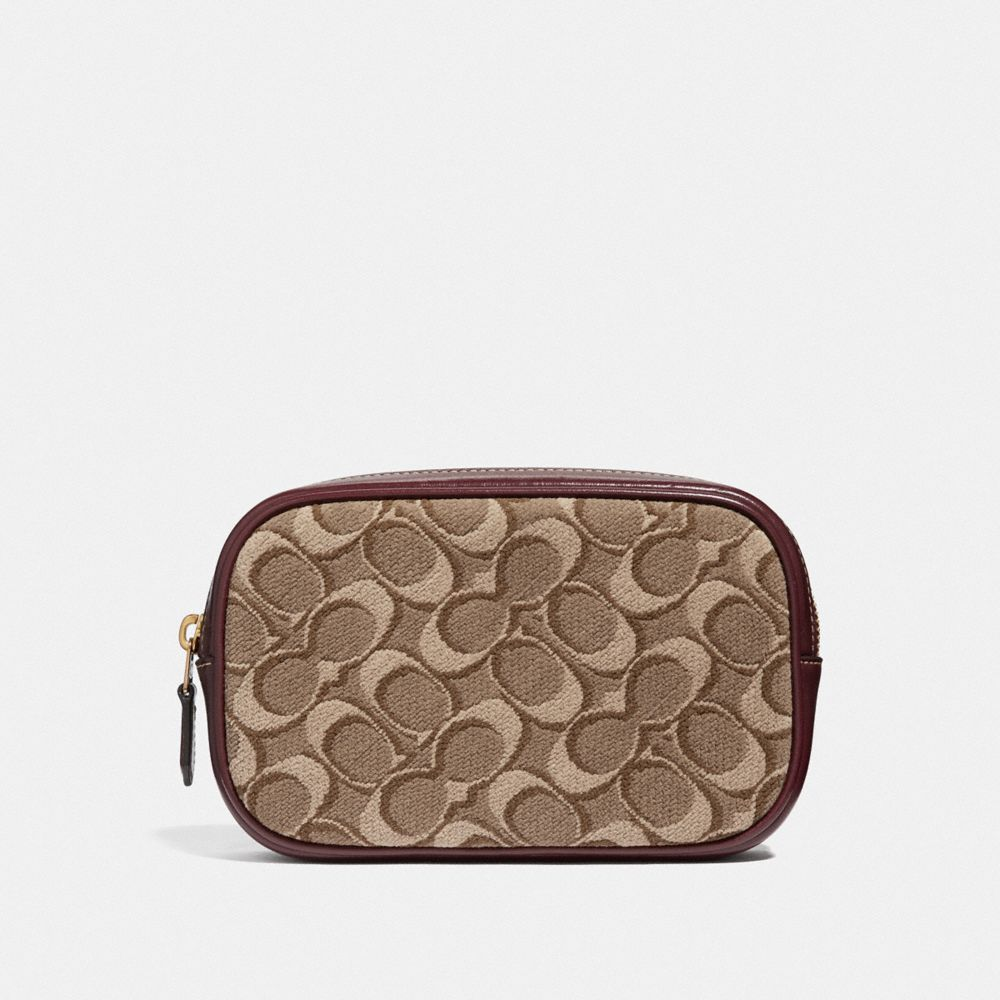 belt bag in signature jacquard