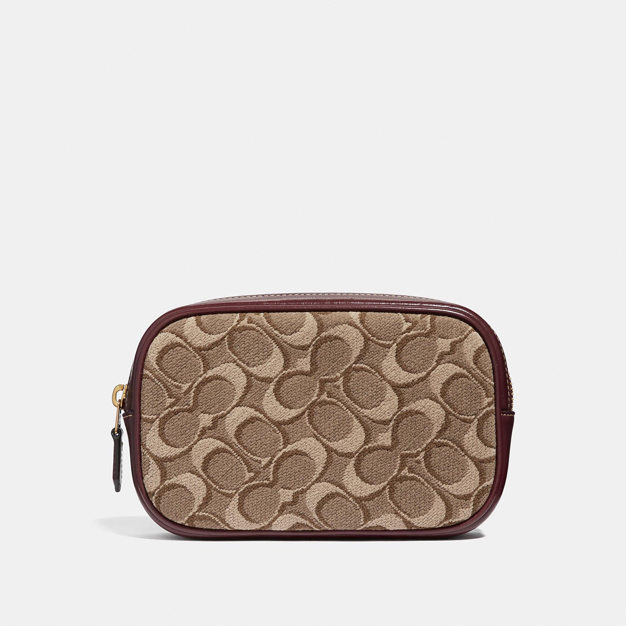 Shop Coach Belt Bag In Signature Jacquard - Women S In Tan Scarlet Brass b8989e786e