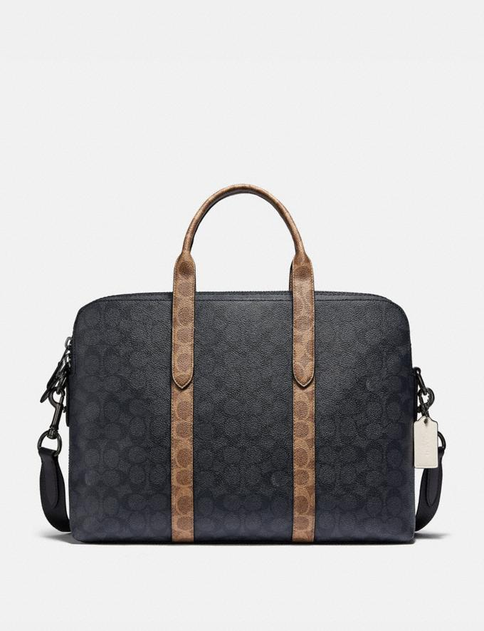 Coach Metropolitan Soft Brief in Colorblock Signature Canvas Ji/Charcoal Multi