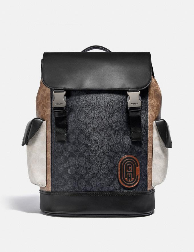 Coach Rivington Backpack in Colorblock Signature Canvas Ji/Charcoal Multi Cyber Monday For Him Cyber Monday Sale