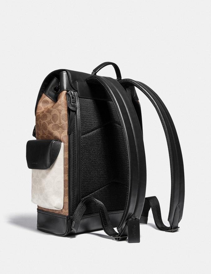 Coach Rivington Backpack in Colorblock Signature Canvas Ji/Charcoal Multi Cyber Monday For Him Cyber Monday Sale Alternate View 1