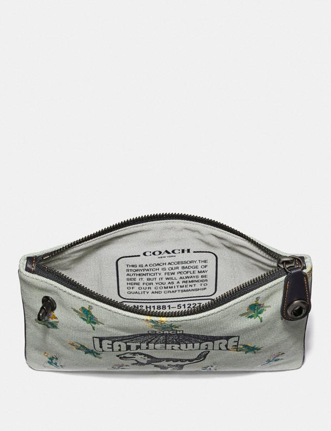 Coach Turnlock Pouch 26 With Rexy Sage/Pewter Gifts For Her Under £100 Alternate View 1