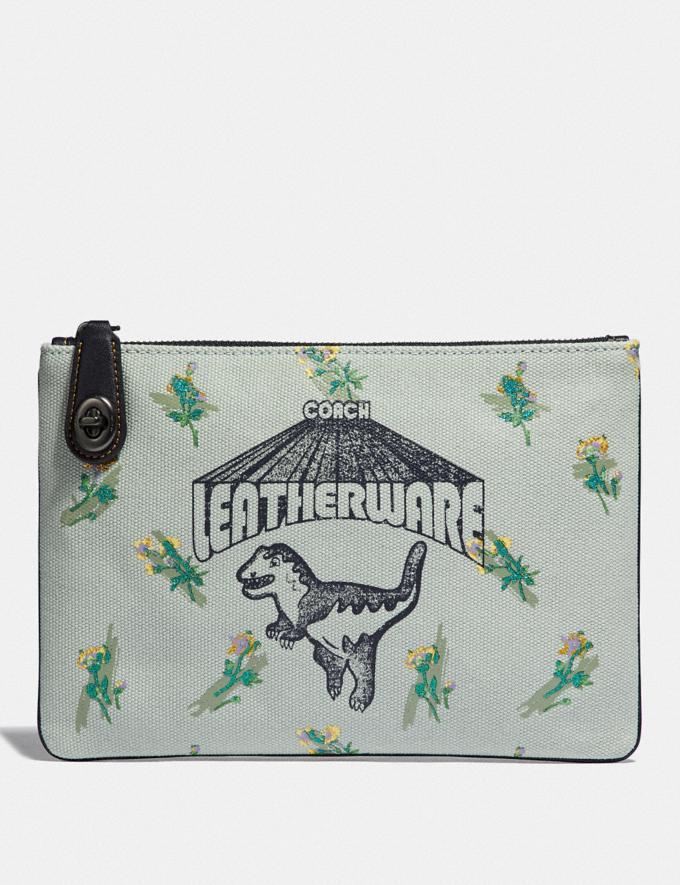Coach Turnlock Pouch 26 With Rexy Sage/Pewter Gifts For Her Under £100