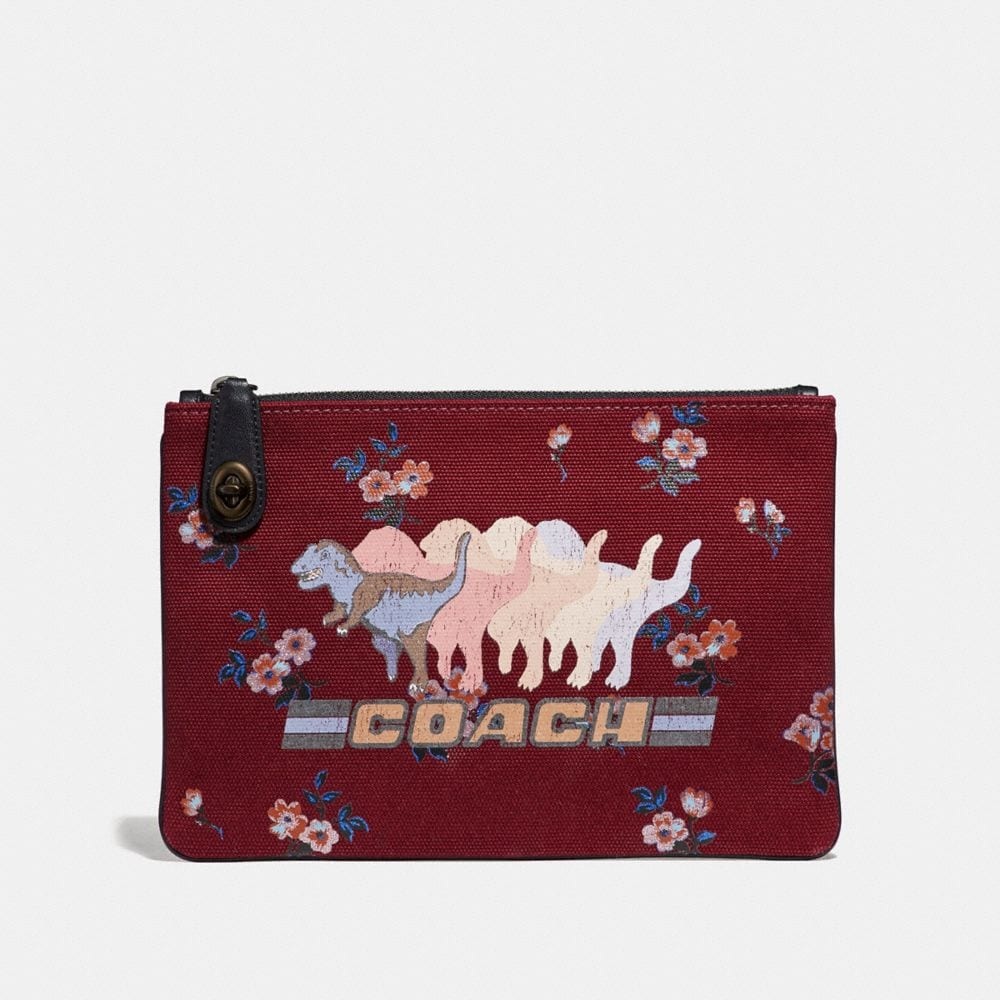 Coach Turnlock Pouch 26 With Shadow Rexy