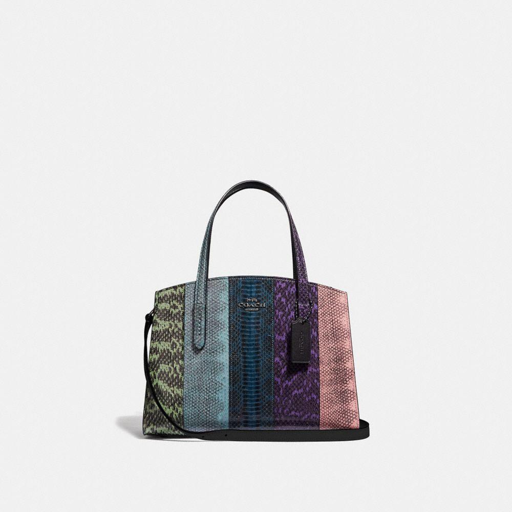 charlie reisetasche 28 aus schlangenleder in ombré
