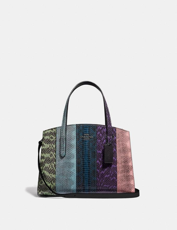 Coach Charlie Carryall 28 in Ombre Snakeskin Gunmetal/Multicolor New Women's New Arrivals Bags