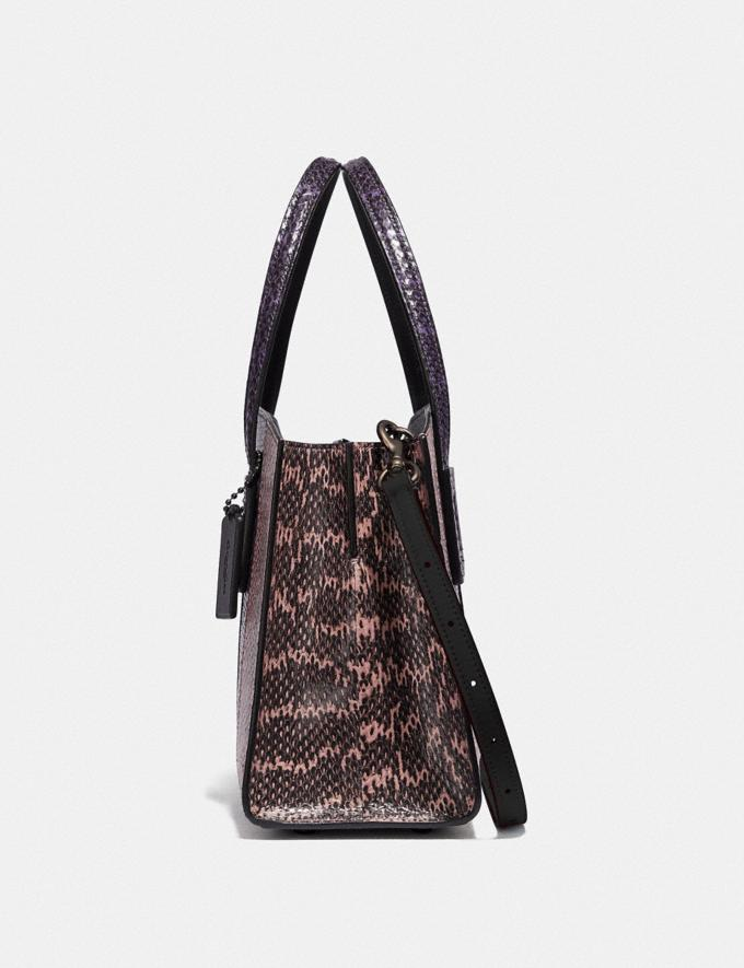 Coach Charlie Carryall 28 in Ombre Snakeskin Gunmetal/Multicolor New Women's New Arrivals Bags Alternate View 1