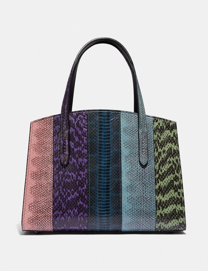 Coach Charlie Carryall 28 in Ombre Snakeskin Gunmetal/Multicolor New Women's New Arrivals Bags Alternate View 2