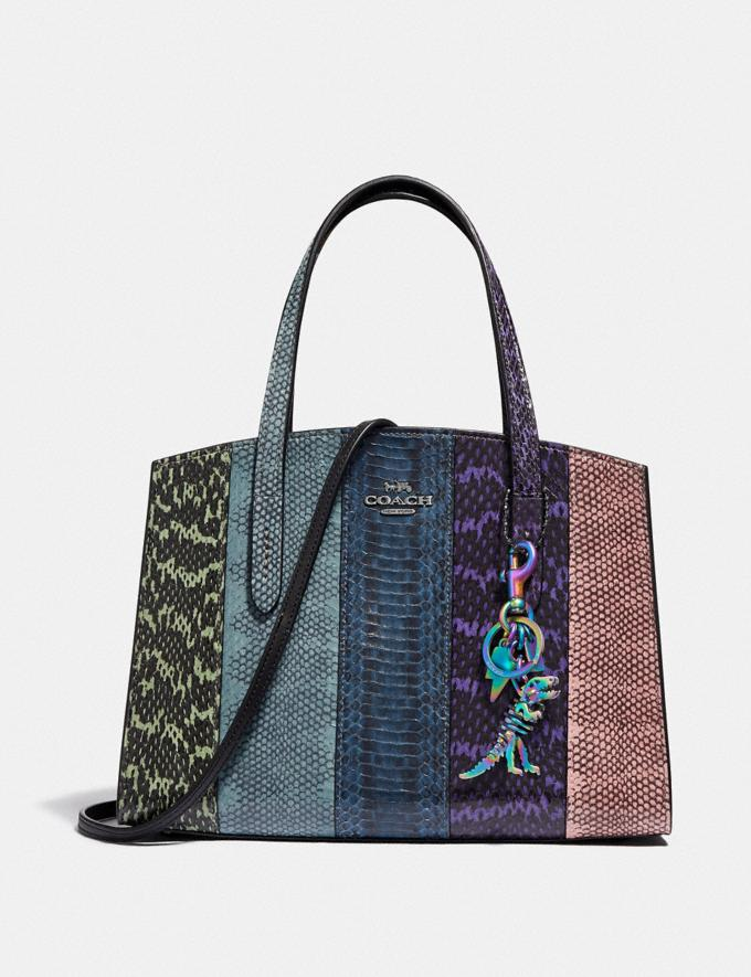 Coach Charlie Carryall 28 in Ombre Snakeskin Gunmetal/Multicolor New Women's New Arrivals Bags Alternate View 4
