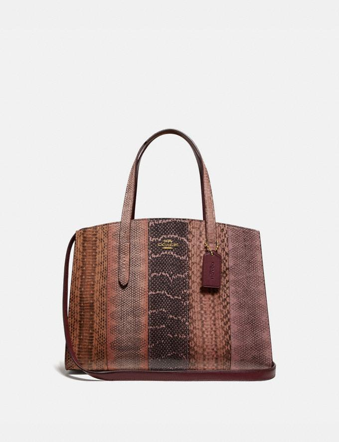 Coach Charlie Carryall in Ombre Snakeskin Pink/Gold New Women's New Arrivals