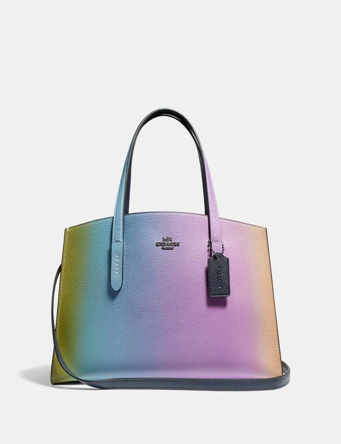 Coach Charlie Carryall With Ombre Multicolor/Gunmetal VIP SALE Women's Sale Bags
