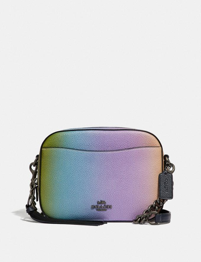 953961f84 Coach Camera Bag With Ombre Multicolor/Gunmetal Women Bags Crossbody Bags