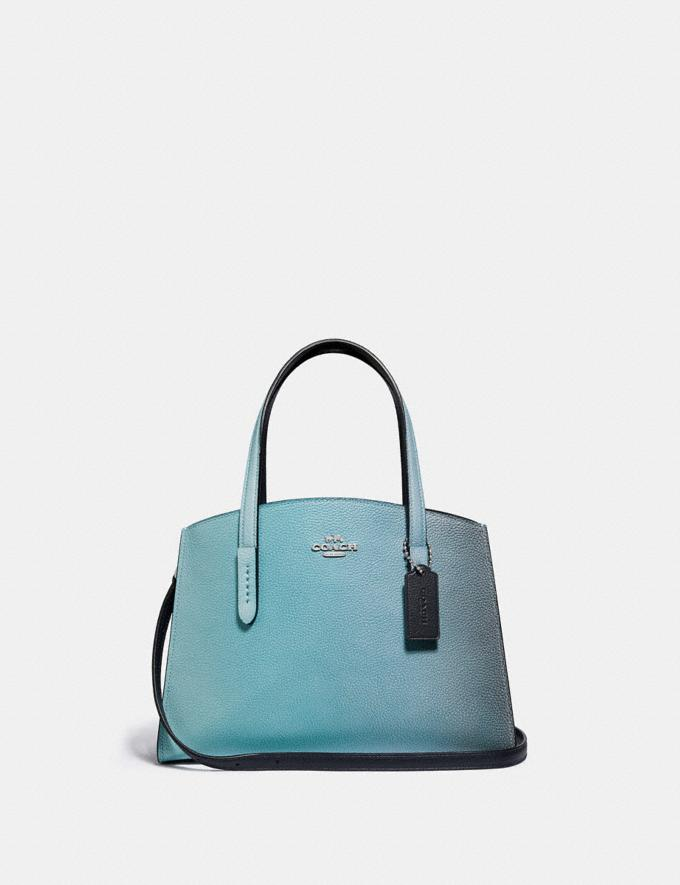 Coach Charlie Carryall 28 With Ombre Silver/Blue New Women's New Arrivals View All