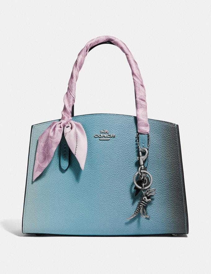 Coach Charlie Carryall 28 With Ombre Silver/Blue New Women's New Arrivals View All Alternate View 4