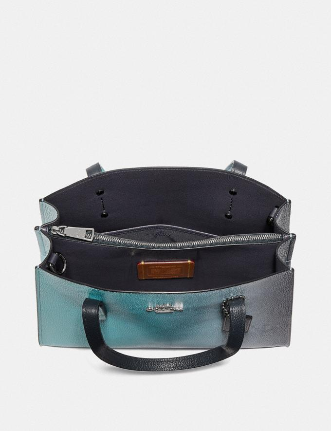 Coach Charlie Carryall 28 With Ombre Silver/Blue New Women's New Arrivals View All Alternate View 3