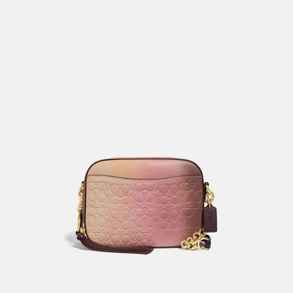 Coach Camera Bag in Ombre Signature Leather