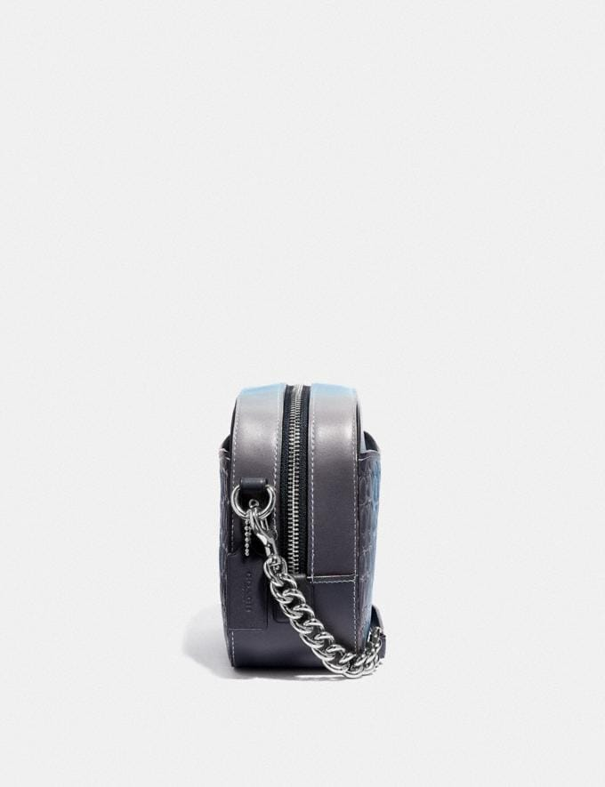 Coach Camera Bag in Ombre Signature Leather Blue Multi/Silver Gifts For Her Valentine's Gifts Alternate View 1