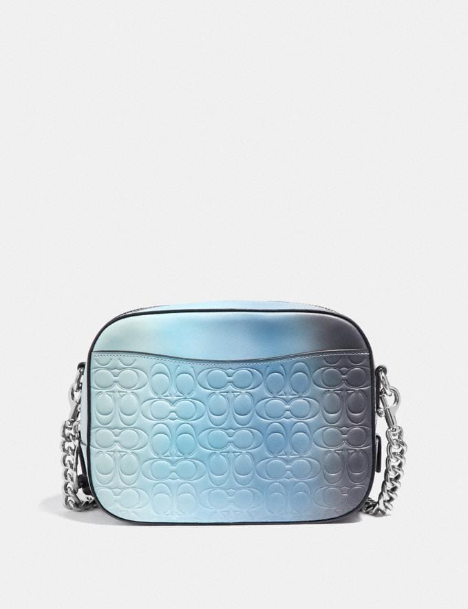 Coach Camera Bag in Ombre Signature Leather Blue Multi/Silver Gifts For Her Valentine's Day Gifts Alternate View 2