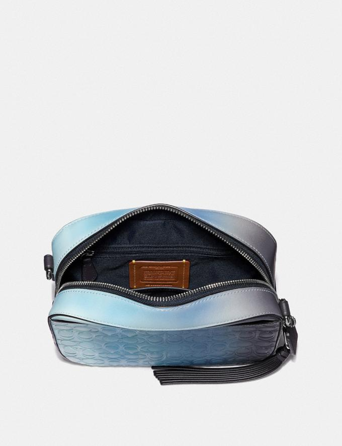 Coach Camera Bag in Ombre Signature Leather Blue Multi/Silver Gifts For Her Valentine's Gifts Alternate View 3