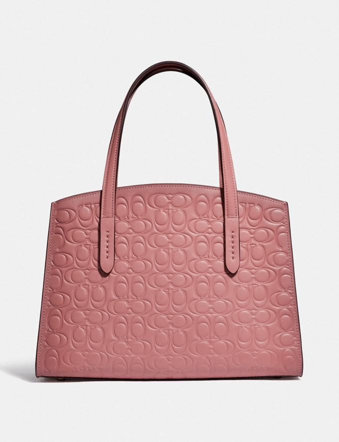 Coach Charlie Carryall 28 in Signature Leather Silver/Light Blush Gifts For Her Valentine's Day Gifts Alternate View 2