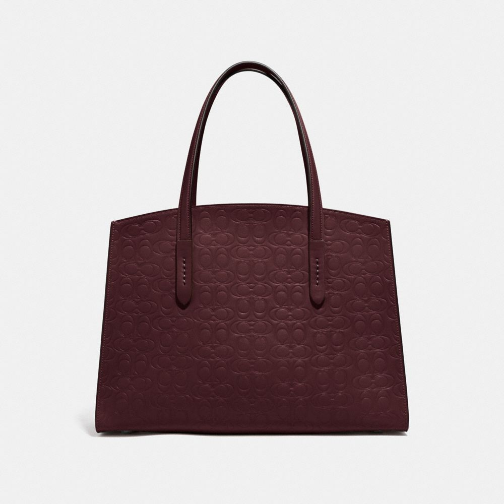Coach Charlie Carryall in Signature Leather Alternate View 2
