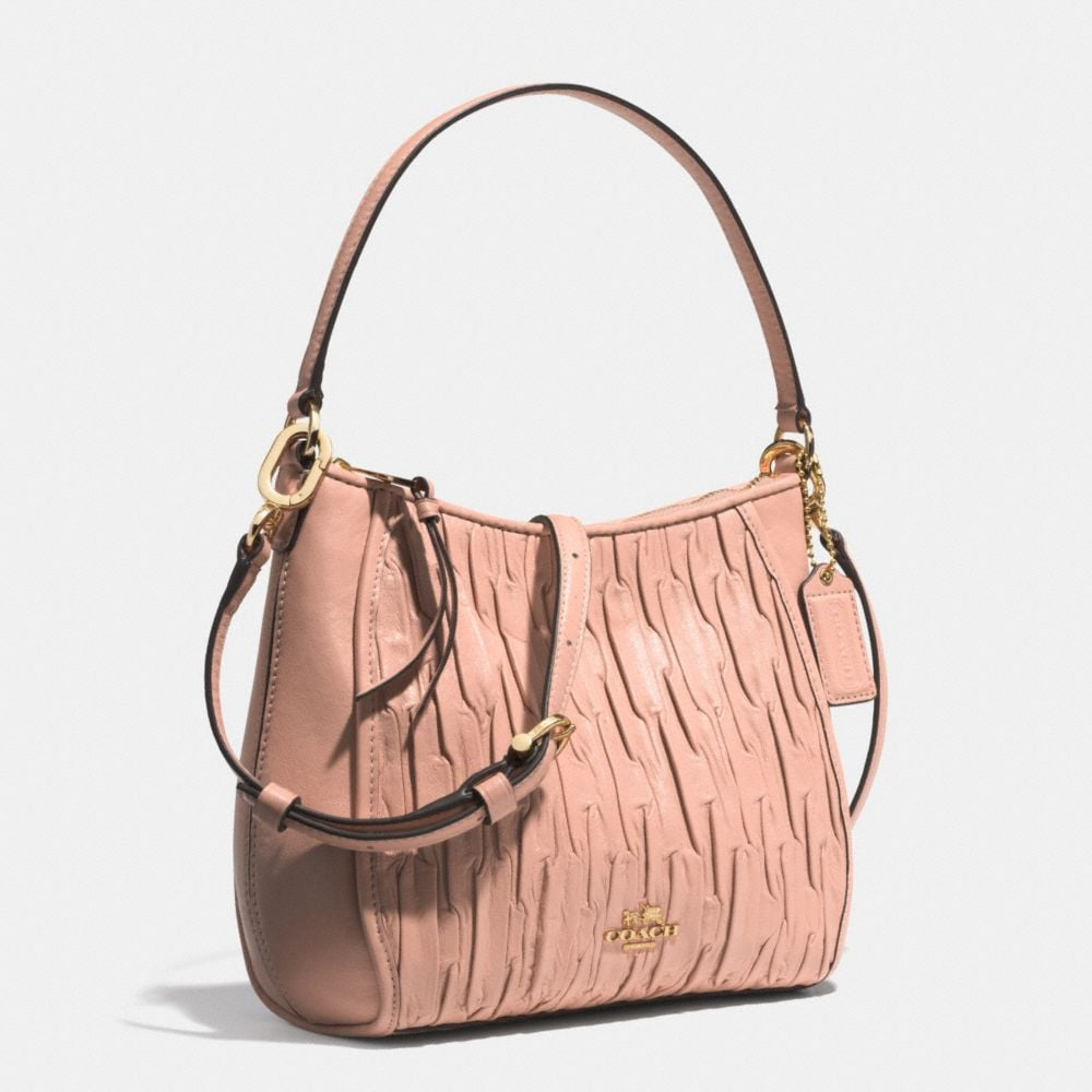 Madison Top Handle Bag in Gathered Leather - Alternate View A2