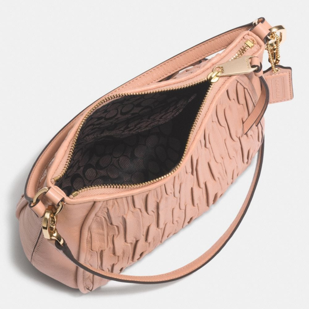 MADISON TOP HANDLE BAG IN GATHERED LEATHER - Alternate View A3