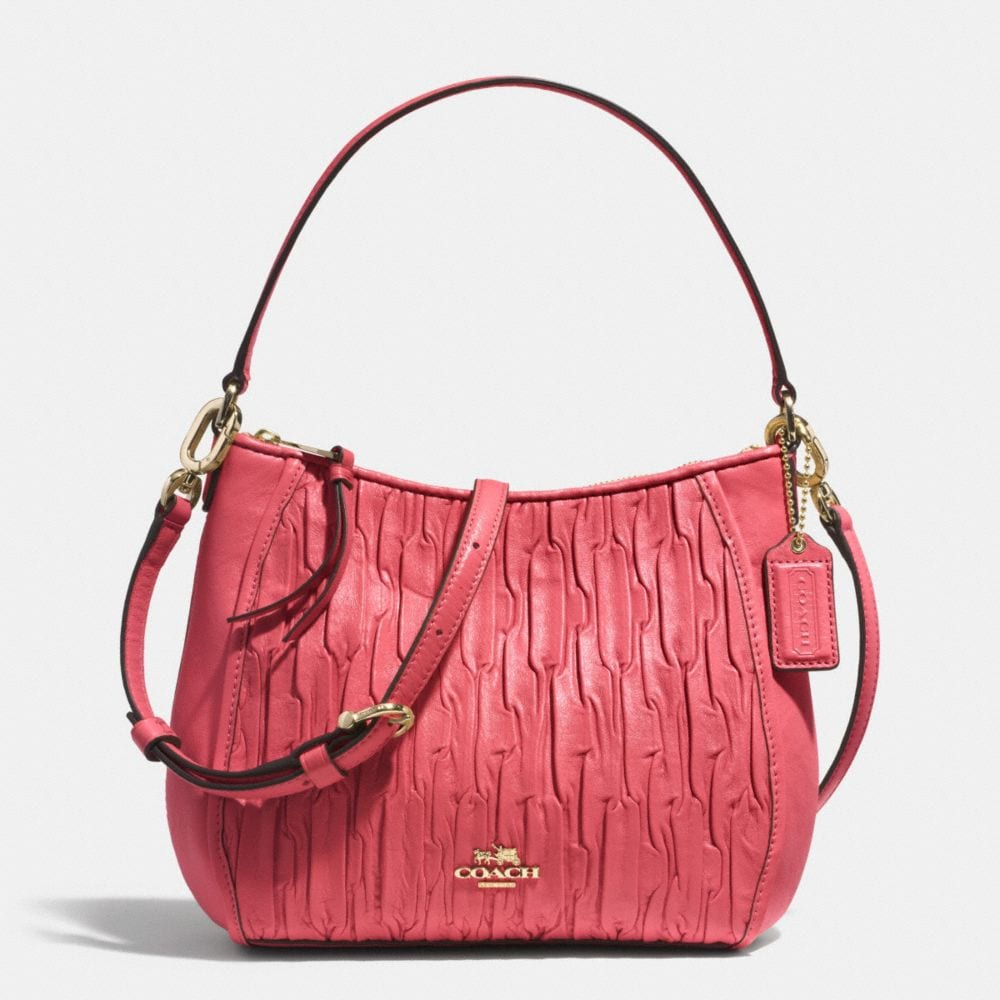 Madison Top Handle Bag in Gathered Leather