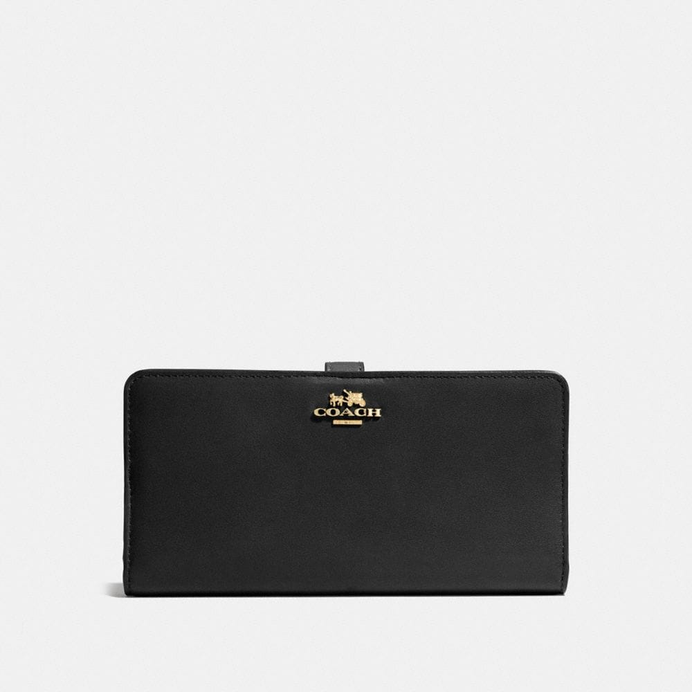 SKINNY WALLET IN LEATHER