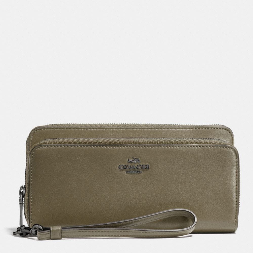 Coach Double Accordion Zip Wallet in Smooth Leather