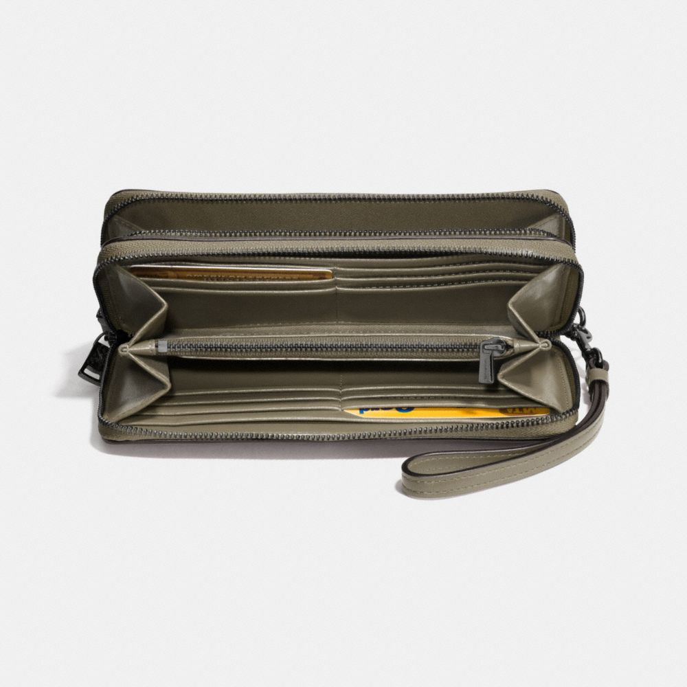 Coach Double Accordion Zip Wallet in Smooth Leather Alternate View 1