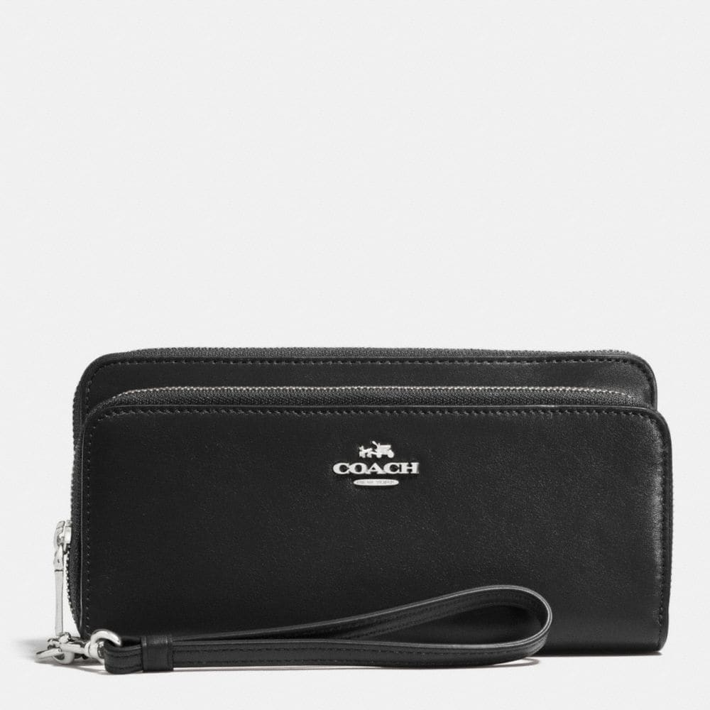 Double Accordion Zip Wallet in Smooth Leather