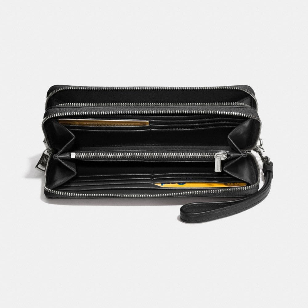 Double Accordion Zip Wallet in Smooth Leather - Autres affichages L1