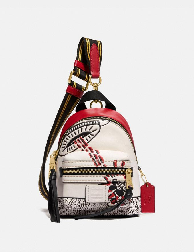 Coach Disney Mickey Mouse X Keith Haring Academy Backpack 15 Black/Red DEFAULT_CATEGORY