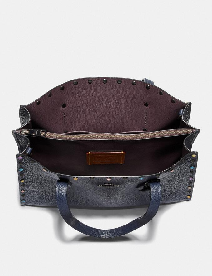 Coach Charlie Carryall With Rivets Gunmetal/Midnight Navy New Women's New Arrivals Bags Alternate View 3