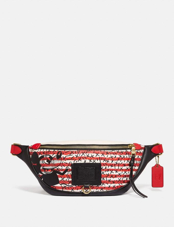 Coach Disney Mickey Mouse X Keith Haring Rivington Belt Bag Brass/Red Multi New Featured Disney x Keith Haring