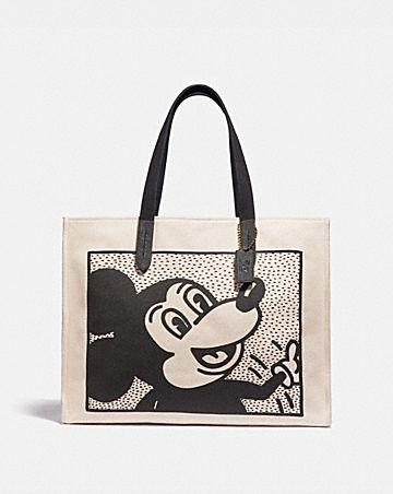 bolso tote 42 disney mickey mouse x keith haring