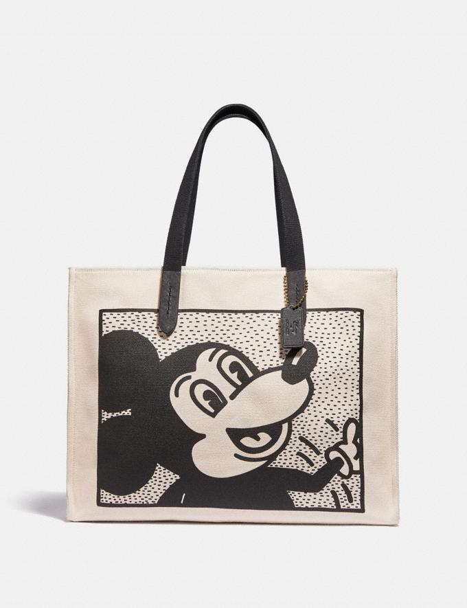 Coach Disney Mickey Mouse X Keith Haring Tote 42 Ol/Chalk Multi Men Bags Totes & Duffles